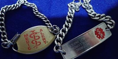 Medical alert bracelets speak for you when you cannot speak.